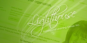 Screenshot of Lighthouse Professional Learning Group website